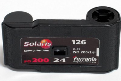 photograph of a kodak Instamatic film cartridge
