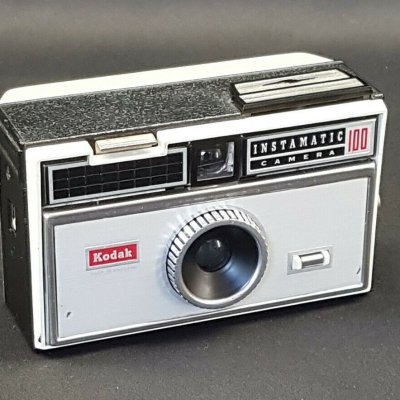 photograph of a kodak instamatic camera