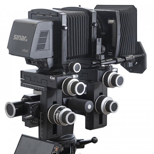 photograph of a 4x5 digital camera