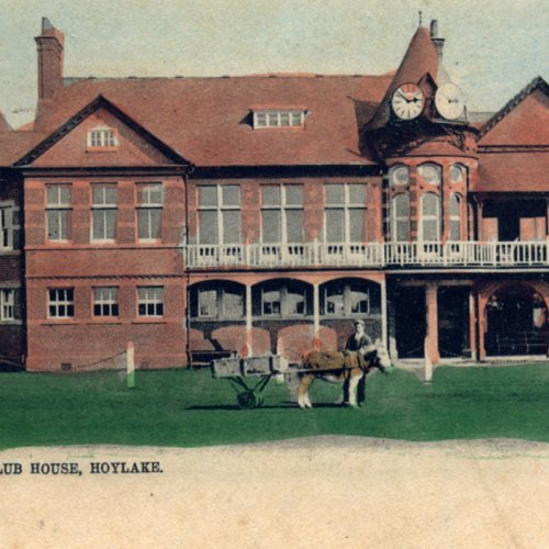 Photograph from the Royal Liverpool Golf Club - post card of the club house