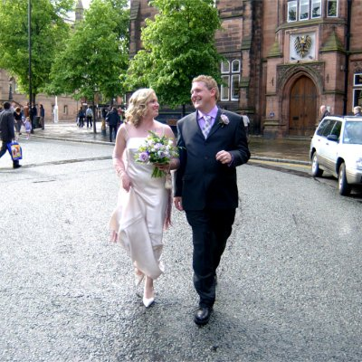 photography of Theran McCartney getting married