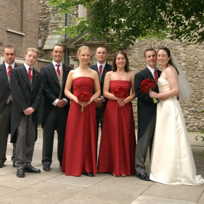 photograph of a wedding party