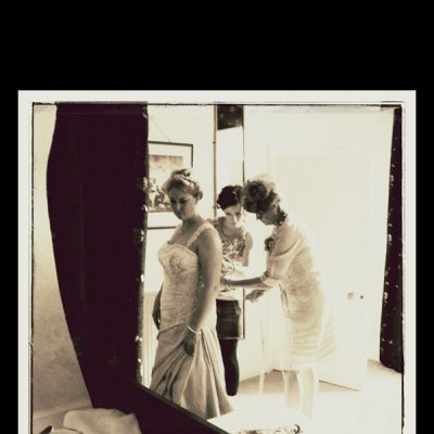 photograph of rachel proctor getting dressed for her wedding
