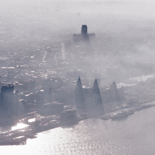 aerial photograph of Liverpool UK
