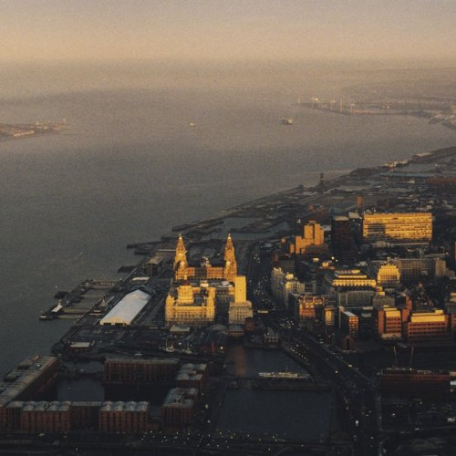 aerial photograph of liverpool (UK)