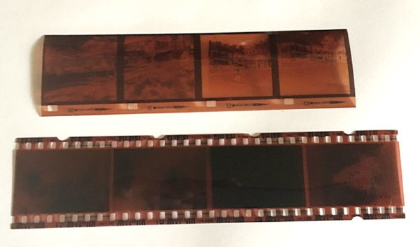 photograph of 35mm and 126 colour film